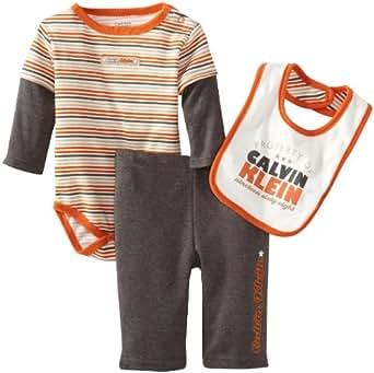 Amazon Com Calvin Klein Baby Boys Newborn 2 Fer Bodysuit