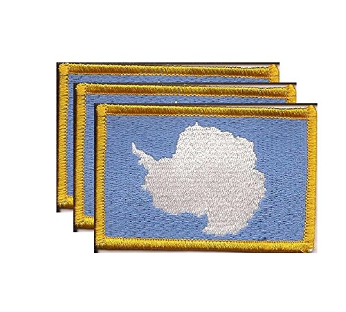 PACK of 3 Antarctica Flag Patches 3.50