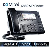 Mitel 6869 6869i VoIP 4.3 Color LCD Display HD Audio SIP Office IP Softphone Phone 80C00003AAA