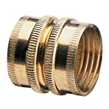 Nelson 50574 Industrial Brass Pipe and Hose Fitting with Dual Swivel for Male Hose to Male Hose, Double Female