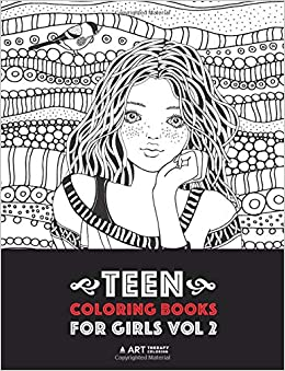 Teen Coloring Books For Girls: Vol 2: Detailed Drawings for Older ...
