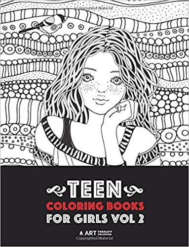Teen Coloring Books For Girls: Vol 2: Detailed Drawings for ...