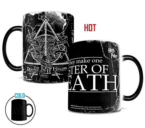Morphing Mugs Harry Potter The Deathly Hallows Power Longing Humility Quote Heat Sensitive Ceramic Coffee Mug - 11 Ounces
