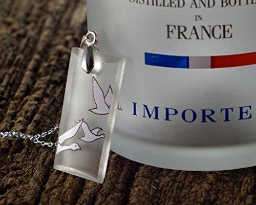 Flying Geese Vodka Pendant - Recycled Grey Goose Vodka (Goose Bottle)
