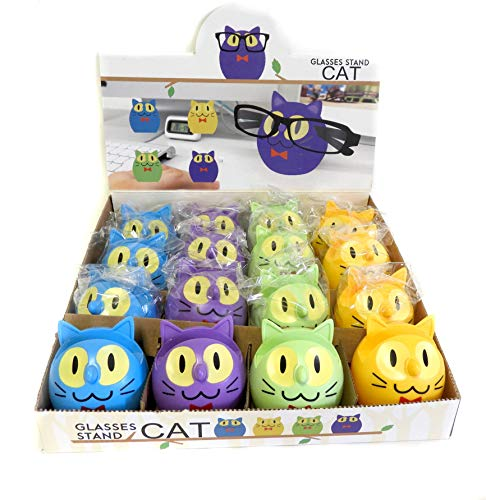 Wholesale lot of 16 Cat Glasses Sunglasses Eyeglass Holder Stand Display Rack Smartphone ()