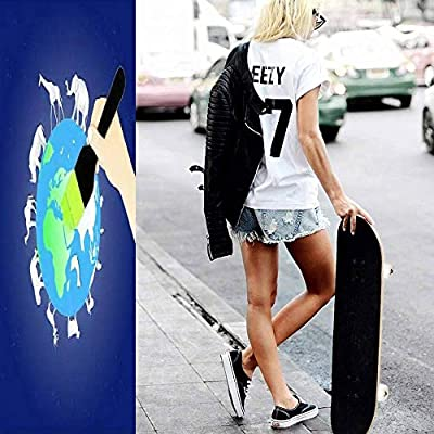 Classic Concave Skateboard World Environment or Wildlife Day with Animal in Nature of Paper Art Longboard Maple Deck Extreme Sports and Outdoors Double Kick Trick for Beginners and Professionals : Sports & Outdoors