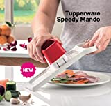 Tupperware Speedy Mando Food Slicer, One Blade Double Speed, Slice and Store At