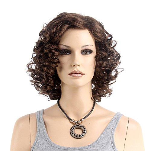 Short Curly Wavy Retro Woman Full Wigs Hair - 7