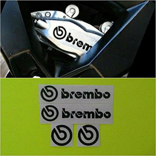 Caliper Cast - R&G Brembo HIGH TEMP Brake Caliper Decals Sticker and Logos Set of 4 (Black MATTE)