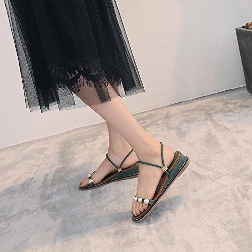 b retrò sandals da pantofole antiskid estate ladies comode bohemian Semplice spiaggia scarpe toe toe YMFIE Y5q6U5