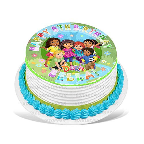 PartyPrint Dora and Friends Edible Cake Topper Personalized Birthday 6