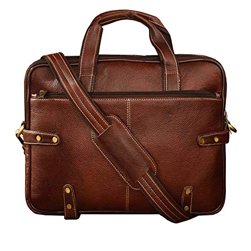 ABYS Genuine Leather 14.1 inch Bombay Brown Office Bag,Travel Passport Holder, Laptop Briefcase, Sling Bag, Messenger Bag & Laptop Bag (B07XK631TT) Amazon Price History, Amazon Price Tracker