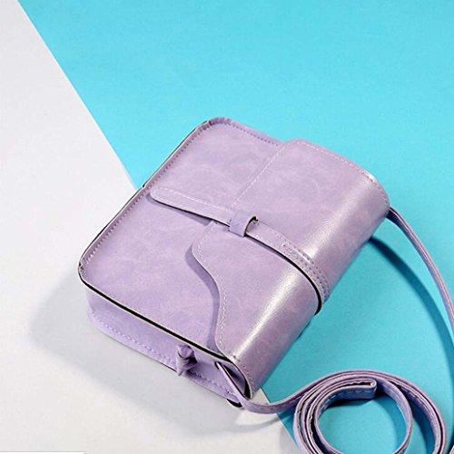 Messenger Shoulder Vintage diagonal mini Body Cross Leather Bag Pueple GINELO Women's shoulder 8dOn0qOw