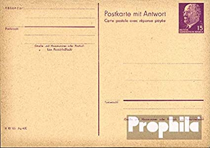 Prophila Collection DDR (RDA) p78 Oficial Tarjeta Postal ...