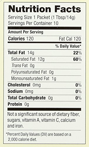 Spectrum Naturals Organic Unrefined Virgin Coconut Oil Packets, 10 Count (Pack of 3) by Spectrum (Image #1)