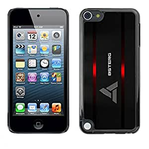 PC/Aluminum Funda Carcasa protectora para Apple iPod Touch 5 Logo / JUSTGO PHONE PROTECTOR