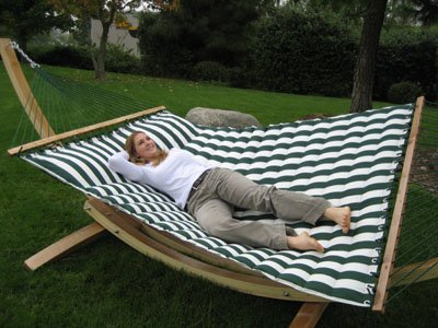 amazon     luxurious cushioned pillow top hammock double sided   green white   garden  u0026 outdoor amazon     luxurious cushioned pillow top hammock double sided      rh   amazon