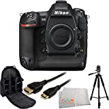 Nikon D5 DSLR Camera (Body Only, Dual XQD) - International Version (No Warranty) with 4P Accessory Kit Includes Full Size Tripod + Mini HDMI Cable + Deluxe Backpack + Microfiber Cleaning Cloth