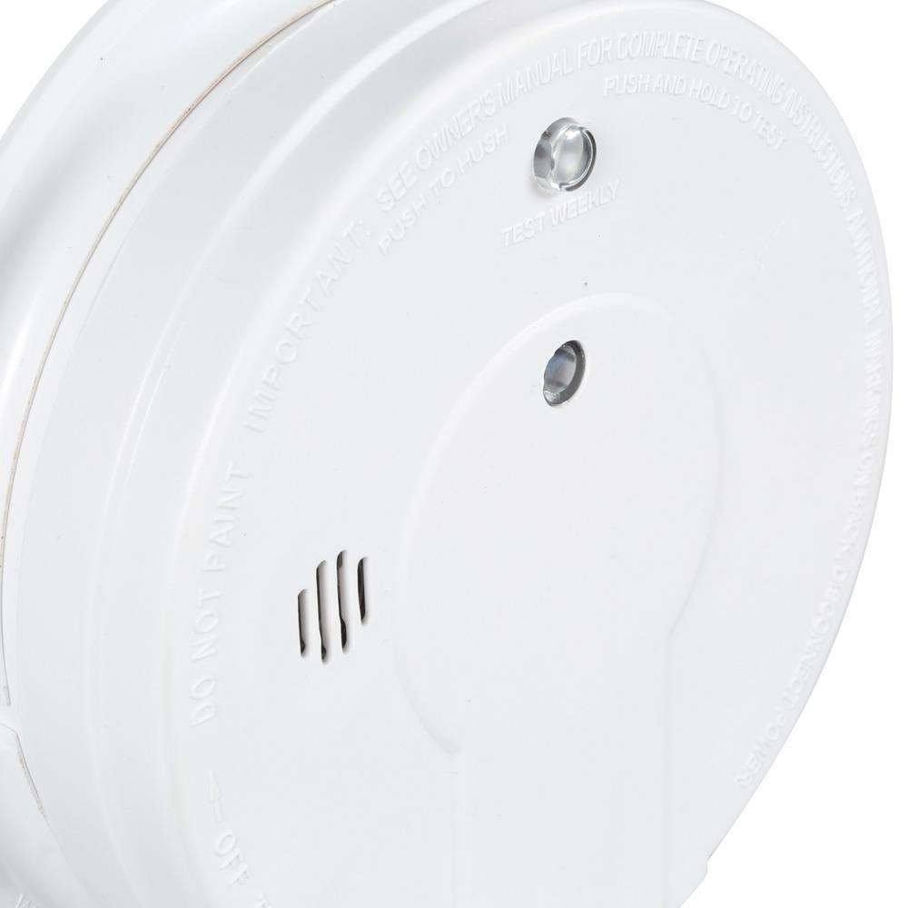 Kidde Ac Hardwired Interconnect Smoke Alarm With Hush I12040 Ionization Detector Ic