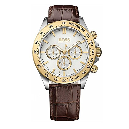 1513174 Menss Brown Leather Chronograph Noticeable