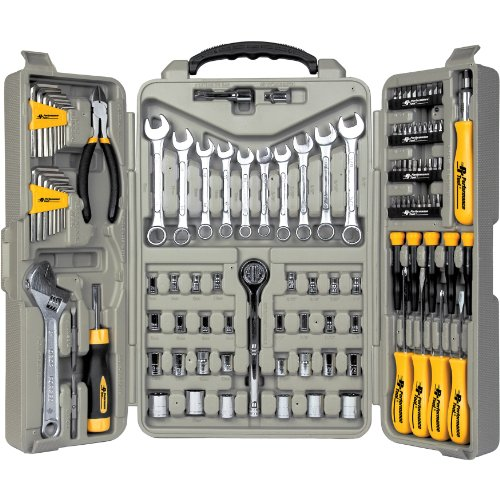 "Performance Tool W1801 SAE/Metric 123 Piece Mechanic's Tool Set (1/4"" & 3/8"" Drive)"
