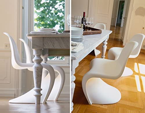 Amazon.com: Vitra Panton Chair, color = White: Kitchen & Dining