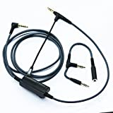 NewFantasia Cable Boom Microphone Volume for gaming PS4 Xbox One PC Laptop phone to SONY MDRXB950BT, MDRXB650BT, MDR1000X, MDR100ABN, WH1000XM2, MDR-1RBT, MDR-10RBT, MDR-1A headphone 1.5m