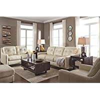 Ashley Furniture Signature Design - OKean Upholstered Leather Sleeper Sofa - Queen Size - Contemporary - Galaxy