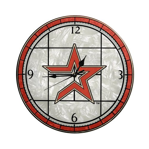 MLB Houston Astros 12-Inch Art Glass Clock