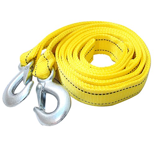 Car Tow Rope 5 Meters 5 Tons Double Thick Off-Road Trailer Tied With Tensioner Pull Rope Traction Rope