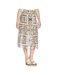Finity Womens Printed Mid Calf Maxi Skirt