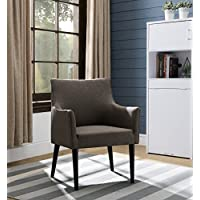 Kings Brand Brown Upholstered Oversized Living Room Accent Arm Chair