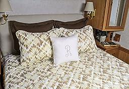 Camper King RV Bedspread Set for 72x80 mattress Key West Sand