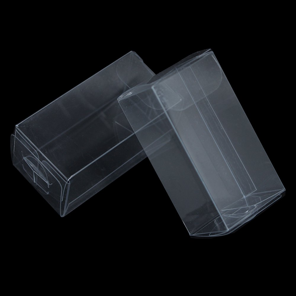 Multiple Usage Clear Plastic Retail PVC Packaging Boxes for Wedding Party Birthday Favor Transparent Cube Jewellery Decorative Accessories Take Out Container (500, 1.2x1.2x2.4 inch(3x3x6 cm))