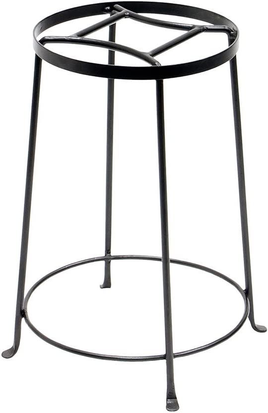 Achla Designs FB-32 Argyle III Wrought Iron Plant Stand, 18-inch H, Graphite