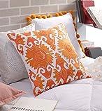 SOLAJ Cotton Cushion Cover (Multicolour, 18X18-inch)