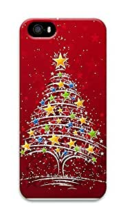iPhone 5 5S Case Colorful Christmas Tree 3D Custom iPhone 5 5S Case Cover
