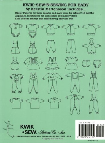 Kwik Sews Sewing For Baby Kerstin Martensson 9780913212134