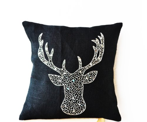 Amore Beaute Handcrafted Deer Pillow Pillow Covers - Anim...