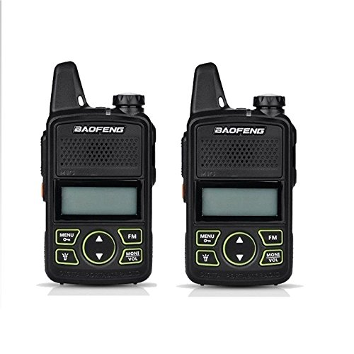 2PCS Original BAOFENG BF-T1 MINI Walkie Talkie UHF 400-470mhz Portable Two Way Radio Ham Radio Micro USB Transceiver