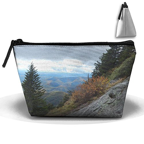 Trapezoid Portable Travel Toiletry Pouch View Mountains Cosmetic Bags Multifunction Clutch Bag]()