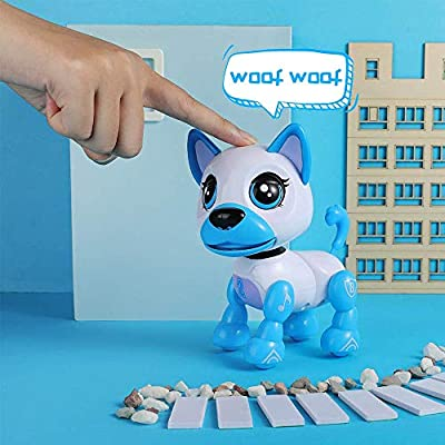Liberty Imports Electronic Intelligent Pocket Pet Dog Interactive Puppy - Robot Dog Smart Toy for Kids with Voice Control: Toys & Games