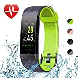 Letsfit Fitness Tracker HR, Color Screen Heart Rate Monitor Watch, Smart Activity Tracker Watch, IP68 Waterproof, Step Calorie Counter, Sleep Monitor, Pedometer Watch for Women Men Kids