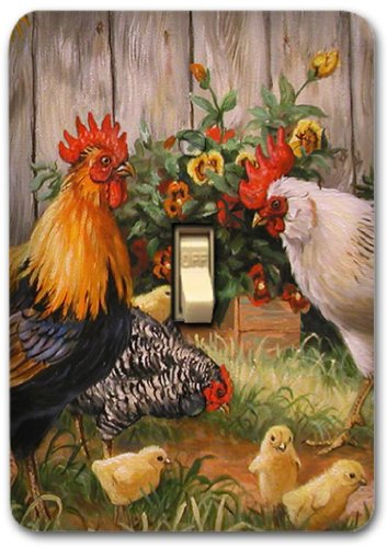 Rooster Farm Animal Country Metal Light Switch Plate Cover Home Decor 300