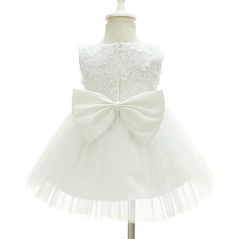 AHAHA Baby Girl Bautizo Bautismo Largo Hueco Vestido de Estilo Princesa de la Boda Vestidos Formales: Amazon.es: Ropa y accesorios