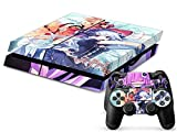 MODFREAKZ™ Console and Controller Vinyl Skin Set – Girl Purple Hair for Playstation 4