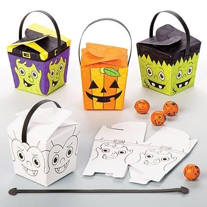 Cajitas Colorear niños pasen Horas de diversión en Halloween ...