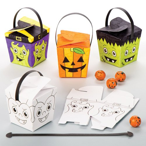 Halloween Colour-in Treat Boxes For Kids Fun-Packed Halloween Toys At Pocket Money Prices - Perfect Party Bag Fillers For Children (Pack of 8) (Fun Easy Halloween Treats)