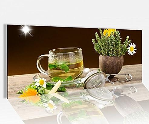 Amazon.De: Acrylglasbild 100X40Cm Kräutertee Tee Tasse Blume