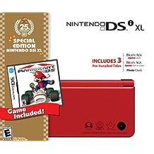 Nintendo DSi XL Red w/Mario Kart DS Bundle - Bundle Edition